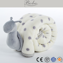 New Design Multifunctional Snail Shape Baby Blanket Soft Plush Toy