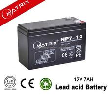 Hot selling vrla 12v 7ah general security battery