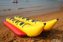 PVC Double Row Inflatable Water Banana Boat For Sale