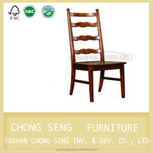 Dark walnut colour wooden kitchen table chairs with well-painted smooth seat base