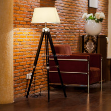 Tripod Wood Floor Lamp Adjustable Standing Lamp