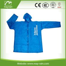Customized High quality adult PVC long hooded men rain coats
