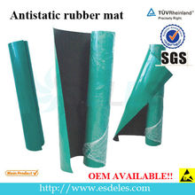 Rubber Material Green/Blue/Grey 2 Layers Glossy or Dull ESD Mat