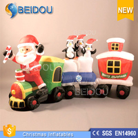 Outdoor Lighted 3D Inflatable Christmas train For Decorations/Events/Sale