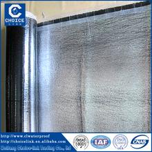Aluminum self adhesive asphalt waterproofing flashing rolls/felts for roofing