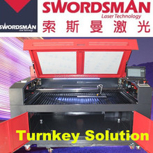 With motorized up and down & rotary clamp 1612 150w co2 laser cutting/engraving machine