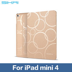 Cute Case Covers For iPad mini4 Tablet PC Skin With Sleep And Wake Up Function for ipad mini4 Smart Case Cover