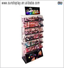 Loja de fogos de artifício display racks de 6 tiers cosméticos unha polonês display stand