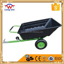 Professional-Grade Tractor ATV UTV Swivel Dump Cart Capacity 10 Cuft