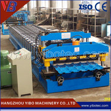 Colored Tile Type and New Condition Steel Roof Tile Machine