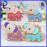 Crystal Material and Rhinestone keychain Type wedding favors gifts elephant