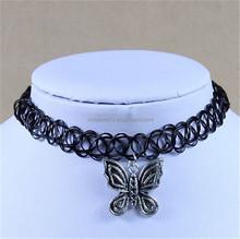 2015 Punk Butterfly Pendant Vintage Stretch Tattoo Choker Necklace