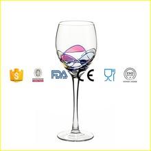 Milano Noir diseño vitral patrón diferente capacidad copa de vino blanco