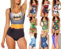 2015 nueva venta al por mayor traje de mujer barato de una pieza trajes sin respaldo Digital swimwear S125