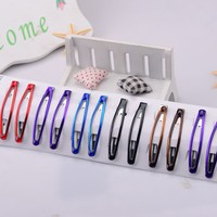 Huilin Jewelry HL-0027CE-3 62*11mm Fine Clear Epoxy Rainbow Metal Hair Clip for Girls