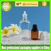 New style plastic rectangle shape dropper bottle PET / plastic rectangle e-liquid bottle