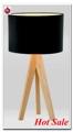 los modelos más populares de Europa y América del TC Cubiertas de oro de la lámpara del color natural de madera tripié MT5003-PN