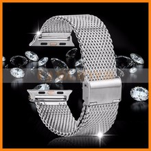 2015 New Launched Stainless Steel Metal Strap For Apple Watch Metal Band 38mm 42mm With Adapter
