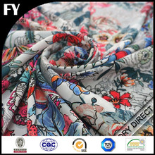 Factory digital printed rayon nylon spandex fabric