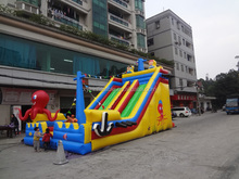 octopus inflatable slide,inflatable pirate ship outdoor playground
