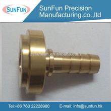 High pricision cnc brass flange bushing