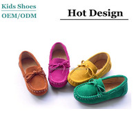 wholesale hot baby loafers kids suede moccasin sneakers slip on walking shoes