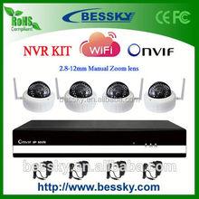 HOT Sale 4 CH H.264 Wireless NVR Kit,ai ball wifi camera,ip doorbell
