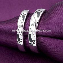 anello di modo anelli di corallo nero mens gioielli
