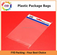 Cheap and hot sales transparent packaging bag with header for collection