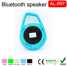 Keychain design bluetooth V3.0 subwoofer car handsfree outdoor sports mini portable wireless speaker with 3d surround