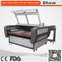 AZ-1290F Automatic feeding laser cutting machine fabric leather laser cutting machine