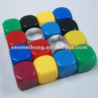 Custom 20mm Colored Rounded Corner Plastic Dice for Game
