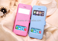 Smart View Window Protective Filp Leather Wallet Case For iPhone 4 4S 5 5S 6 6Plus