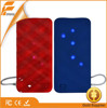 power bank with charging cable / 3 usb output ports power bank for tablets & mobile phones / rubber power bank 5000mAh