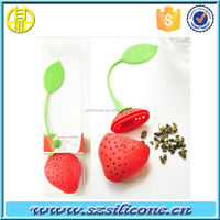2014 fashion strawberry shape silicone tea infuser good for you drink tea