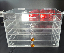 Manufacturer supplies wholesale acrylic makeup organizer with drawers