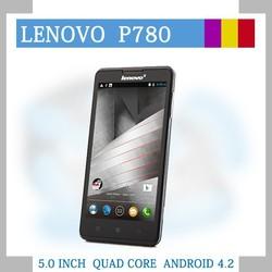 "original Lenovo P780 Android MTK6589 Quad Core 5"" 1280x720 Screen 1GB RAM 8.0MP 4000mAh Battery free original flip cover"
