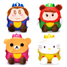 Korea Fashionable Kids Plush Toys School Bag
