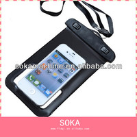 Different colors waterproof clear phone pouch for iphone 5