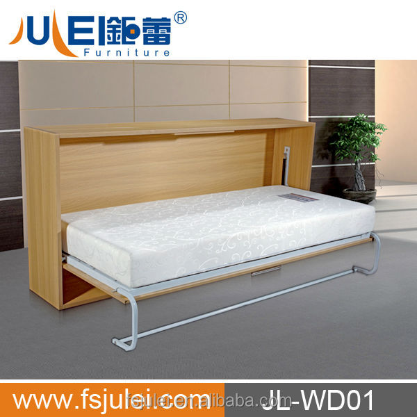 Space saving pull down wall bed fold up wall bed hidden - Wall mounted pull down beds ...