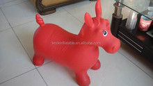 SGS AZO free pvc inflatable horse jumping toys hopper bouncer toy