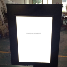 moving avdertising Front-lit LED illuminated acrylic face aluminum backboard customized led light box sign