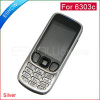 New Silver Full Housing Cover + Keypad for Nokia 6303c