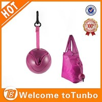 Promotion PE ball pocket shopping bag free sample shoulder bags eco-friendly bag