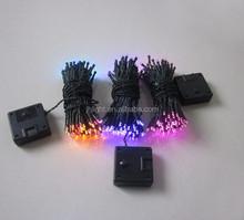 50LED solar string light,fiber optic flower led fairy lights, solar led garland string light