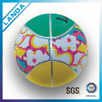 Rubber made new style colorful official size mini #3 children basketball