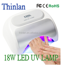 18k LED Nail Lamp 18w cnb lamp with Time Magnetic Bottom Removable and Automatic Infrared Sensor Polish Gel Nail Dryer