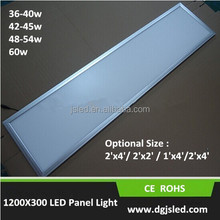48W LED panel light 300*1200 , surface mounted led panel light office meeting room application