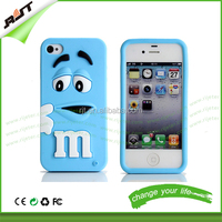 Cute M&M's chocolate Rubber Silicone Cartoon Mobile Phone Cases Covers for iPhone 6 6S
