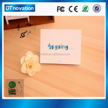 Chinese Factory Custom Invitation Thank You Cards With Sound Chip